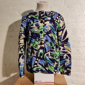 Chico's Multicolor Soft Feel Jacket Size 1